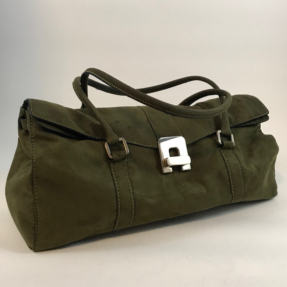 Bags   Olive Green Suede Shoulder Bag   Poshmark da358a3ca4